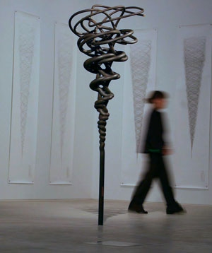 Photograph of works by Conrad Shawcross in the Turner Contemporary opening exhibition.